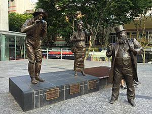 Steele Rudd -  Steele Rudd statue in King George Square, Brisbane