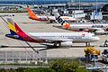 AAR A320-200 pushback for R-W06R. (8089893602).jpg