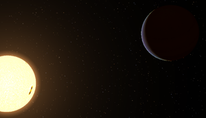 AA Tauri - Image: AA Tauri star and planet