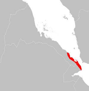 Eritrean coastal desert - Eritrean coastal desert ecoregion map