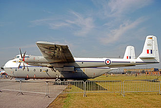 No. 115 Squadron RAF - Argosy E.1 of No. 115 Squadron, based at RAF Brize Norton, displayed at the Queen's Silver Jubilee Review at RAF Finningley in July 1977.