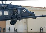 A 33rd Rescue Squadron HH-60 Pave Hawk lands on the flightline (34045282261).jpg