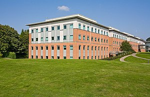 "IBM Hursley - ""A"" block, one of several modern buildings added to the Hursley estate by IBM"
