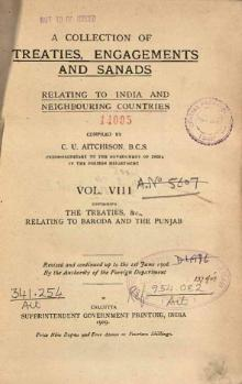 A Collection of Treaties, Engagements and Sanads relating to India and Neighbouring Countries Vol 8.djvu