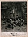 A Dutch tavern interior with three men smoking and drinking Wellcome V0019526.jpg