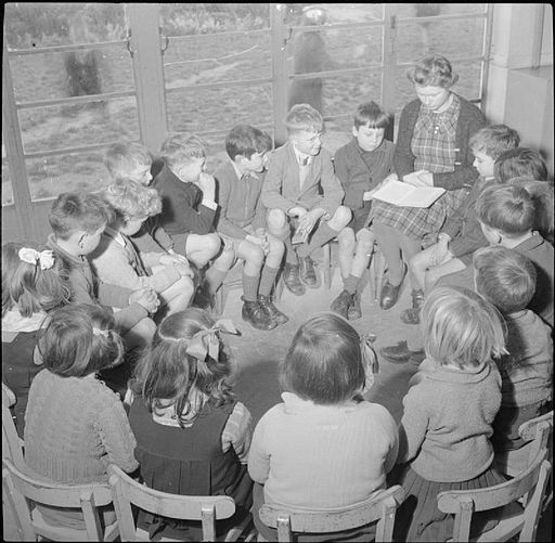 A Modern Village School- Education in Cambridgeshire, England, UK, 1944 D23630