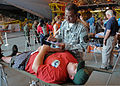A New York Air National Guardsman triages a simulated victim during exercise Golden Eagle III at Stewart Air National Guard Base, Newburgh, N.Y., June 1, 2013 130601-Z-VX101-045.jpg