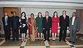 A Parliamentary Delegation led by the President of the Parliament of the Republic of Macedonia, Mr. Trajko Veljanoski meeting the Speaker, Lok Sabha, Smt. Meira Kumar, in New Delhi on March 05, 2013.jpg