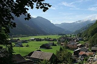 Schnepfau Place in Vorarlberg, Austria