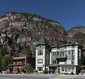 A block of Main Street in Ouray, Colorado, an old mining community high in the San Juan Mountains of southwestern Colorado LCCN2015632327.tif