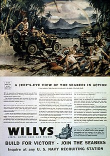S Wartime Adver Promoting Its Jeeps Contribution To The War Effort