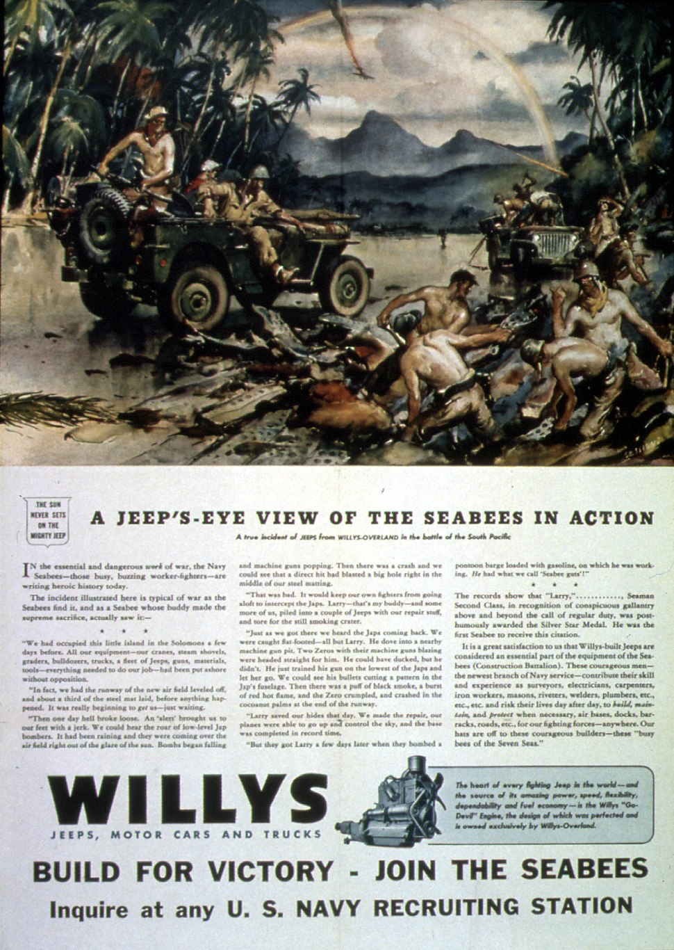 A jeep's-eye view of the seabees in action - NARA - 513727