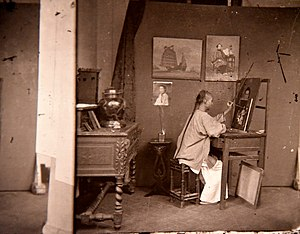 A painter at work. John Thomson. Honk Kong, 1871. The Wellcome Collection, London