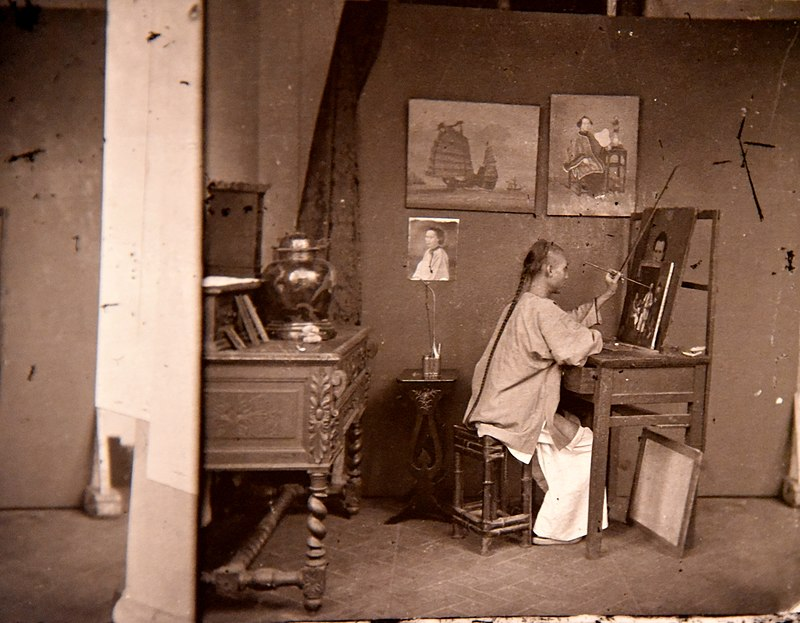 A painter at work. John Thomson. Honk Kong, 1871. The Wellcome Collection, London.jpg