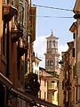 A view of Torre dei Lamberti from the city streets, July 2011.JPG