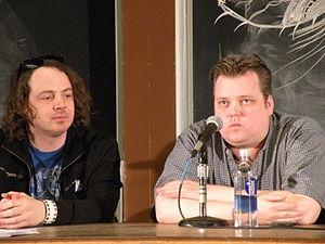 Matt Sloan (voice actor) - Image: Aaron Yonda & Matt Sloan at ROFL Con 2010 by eye fi