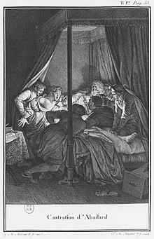 Abelard, attacked and castrated (Source: Wikimedia)