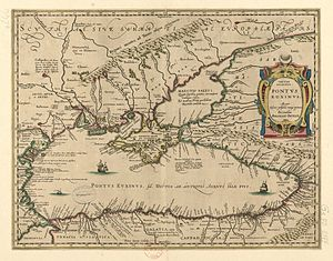 Pieter van den Keere - Map of the Black Sea for Abraham Ortelius.