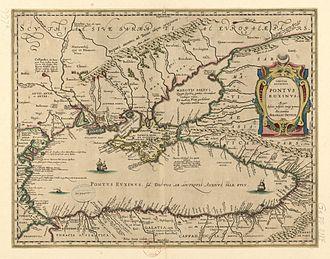 Pieter van den Keere - Map of the Black Sea for Abraham Ortelius.