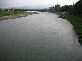 Abukuma River, Fukushima City, Japan.JPG