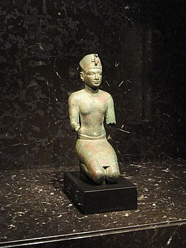 Achoris or Nectanebo I statuette, Egype, Late Period, 29th to 30th Dynasty, 393-362 BCE - Nelson-Atkins Museum of Art - DSC08142.JPG