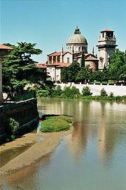 The Adige flowing through Verona