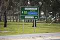 Advance directional (AD) sign with an alphanumeric route plated fitted on Olympic Highway in Wagga Wagga (2).jpg