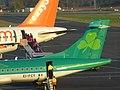 Aer Lingus Regional (EI-FCY) & EasyJet (G-EZFU), Newcastle Airport, October 2014 (02).JPG