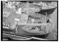 Aerial view of stern with auxiliary boats and davits. - U.S. Coast Guard Cutter FIR, Puget Sound Area, Seattle, King County, WA HAER WA-167-10.tif