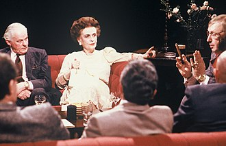 Margaret Campbell, Duchess of Argyll - Margaret, Duchess of Argyll, appearing on After Dark in 1988