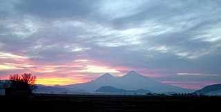 Mountains of Ararat location mentioned in Genesis as place where Noahs Ark came to rest after the great flood