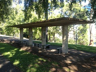 Wickham Park, Brisbane - Remains of World War II air-raid shelters in Wickham Park