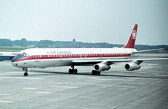 Air Canada Flight 621 - An Air Canada McDonnell Douglas DC-8 similar to the aircraft that crashed.