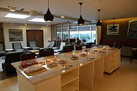 Air India Heathrow lounge.JPG