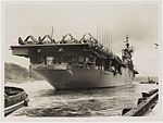Aircraft carrier USS Valley Forge, Sydney Harbour, 1948.jpg