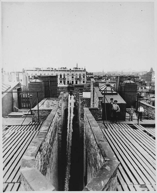 From New York City: File:Airshaft Of A Dumbbell Tenement, New York City, Taken