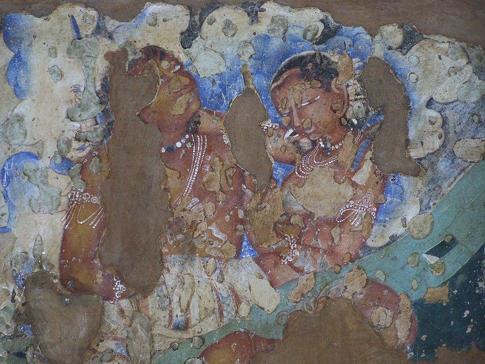 Ajanta cave 2, girls detail