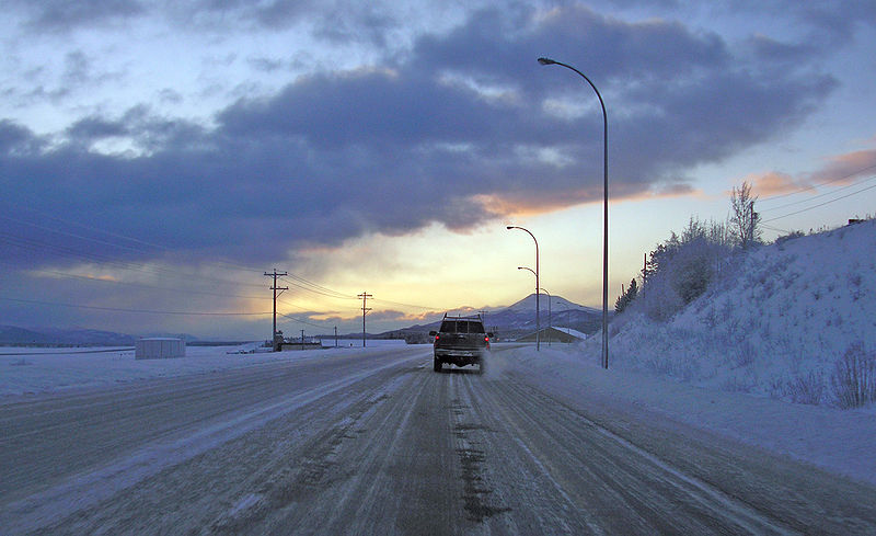 File:Alaska Highway in Whitehorse.jpg