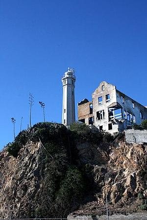 Warden's House (Alcatraz Island) - Warden's House and lighthouse