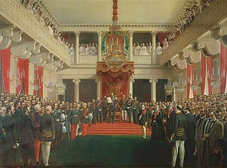 Emperor Alexander II declares the 1863 Diet session open