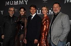 Alex Kurtzman, Sofia Boutella, Tom Cruise, Annabelle Wallis, Russell Crowe (34435877860).jpg