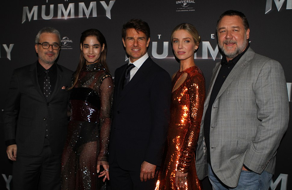 Alex Kurtzman, Sofia Boutella, Tom Cruise, Annabelle Wallis, Russell Crowe (34435877860)