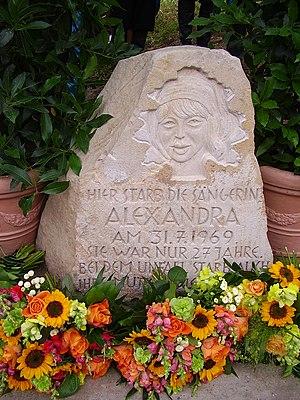 Alexandra (singer) - Memorial at the crash site in Tellingstedt