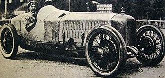 Ugo Sivocci - Ugo Sivocci at the wheel of 1923 Alfa Romeo P1