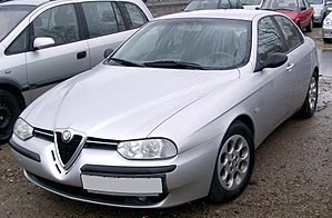 Alfa Romeo 156 - Original version (black mirrors and bumper strips)