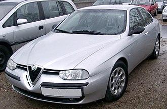 Alfa Romeo 156 - Original version (black mirrors and bumper strips)