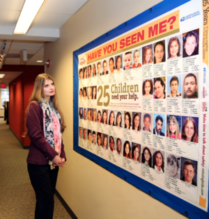 National Center for Missing and Exploited Children - Alicia Kozakiewicz at the National Center for Missing and Exploited Children, headquarters in Alexandria, VA