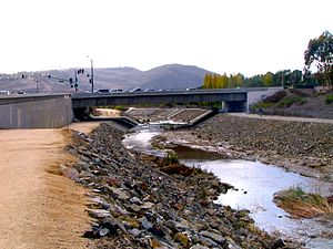 Tongva - Aliso Creek (Orange County) which traditionally marked the boundary between the Tongva and the Juaneño.