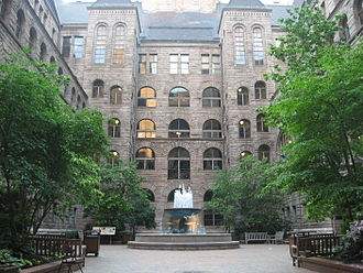 Allegheny County Courthouse - Image: Allegheny County Courthouse Courtyard