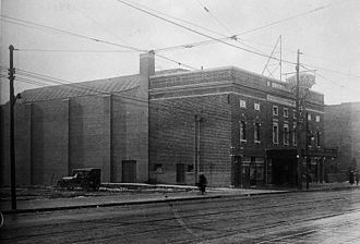Danforth Music Hall - Allen's Danforth Theatre shortly after its completion in 1919